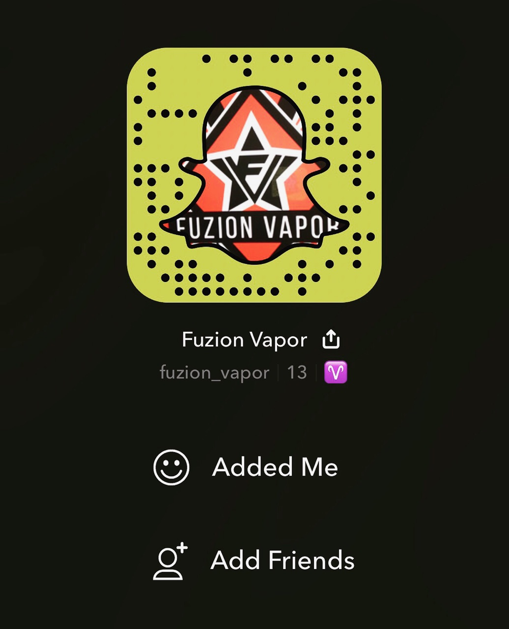 Follow Us On SnapChat! @Fuzion_Vapor